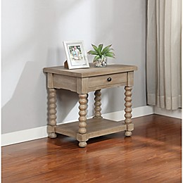 Bee & Willow™ Home Spindle End Table in Grey Wash
