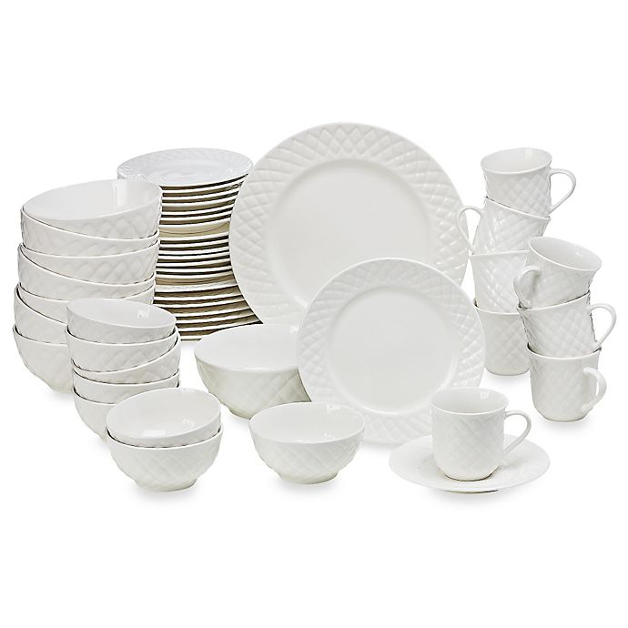 Alternate image 1 for Gibson Home Antique Quilt 48-Piece Dinnerware Set