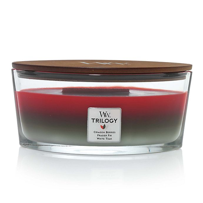 Alternate image 1 for WoodWick® Trilogy Winter Garland Large Oval Jar Candle