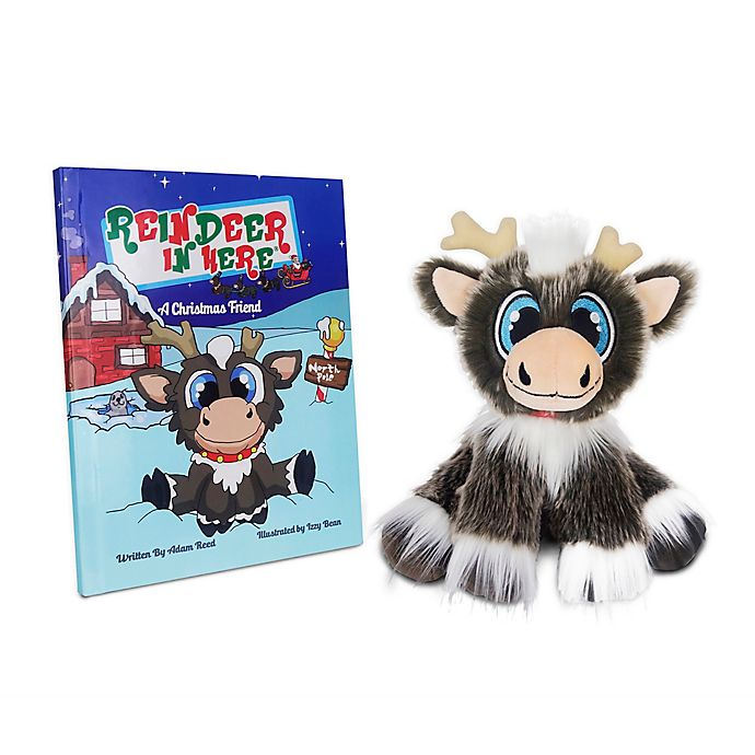Alternate image 1 for Reindeer in Here® Children's Book with Plush Reindeer Toy
