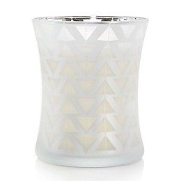 WoodWick® Medium Hourglass Teak Candle in White