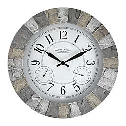 FirsTime & Co.® Stoneybrook Outdoor Clock in Light Grey