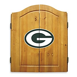 NFL Green Bay Packers Dartboard and Cabinet Set