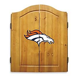 NFL Denver Broncos Dartboard and Cabinet Set