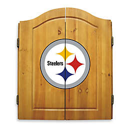 NFL Pittsburgh Steelers Dartboard and Cabinet Set