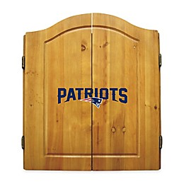 NFL New England Patriots Dartboard and Cabinet Set