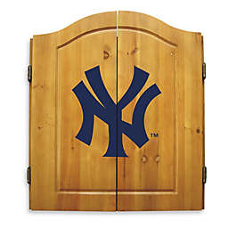 MLB New York Yankees Dartboard and Cabinet Set