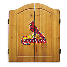 MLB St. Louis Cardinals Dartboard and Cabinet Set
