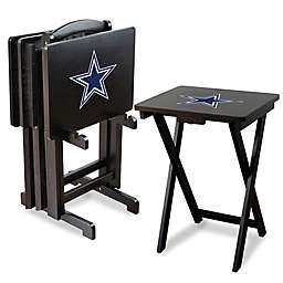 NFL Dallas Cowboys TV Tray with Stand (Set of 4)