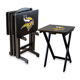 NFL Minnesota Vikings TV Tray with Stand (Set of 4)