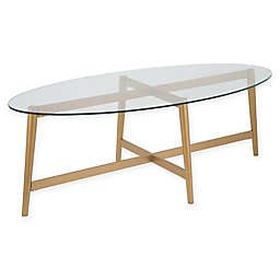 Hudson&canal™ Olson Oval Coffee Table in Gold