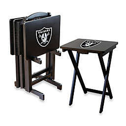 NFL Las Vegas Raiders TV Tray with Stand (Set of 4)
