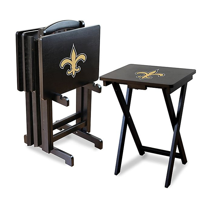 NFL New Orleans Saints TV Tray With Stand Set Of 4