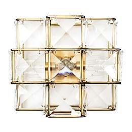 Varaluz® Cubic 3-Light Wall-Mount Sconce in Calypso Gold