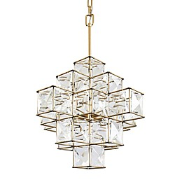 Varaluz® Cubic 6-Light Chandelier in Calypso Gold