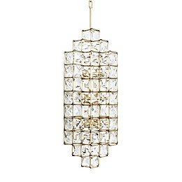 Varaluz® Cubic Flush-Mount Pendant in Calypso Gold