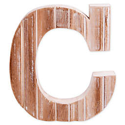 "Bee & Willow™ Home Monogram 6-Inch x 8-Inch Wood Letter ""C"" Wall Art in White"