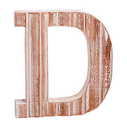 "Bee & Willow™ Home Monogram 6-Inch x 8-Inch Wood Letter ""D"" Wall Art in White"