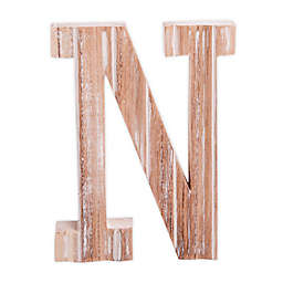"""Bee & Willow™ Home Monogram 6-Inch x 8-Inch Wood Letter """"N"""" Wall Art in White"""