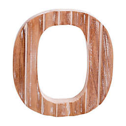"Bee & Willow™ Home Monogram 6-Inch x 8-Inch Wood Letter ""O"" Wall Art in White"