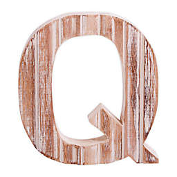 "Bee & Willow™ Home Monogram 6-Inch x 8-Inch Wood Letter ""Q"" Wall Art in White"