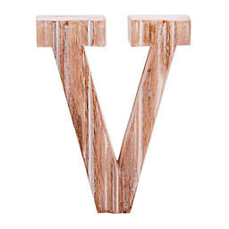 "Bee & Willow™ Home Monogram 6-Inch x 8-Inch Wood Letter ""V"" Wall Art in White"