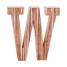 "Bee & Willow™ Home Monogram 6-Inch x 8-Inch Wood Letter ""W"" Wall Art in White"