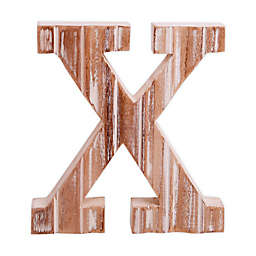 "Bee & Willow™ Home Monogram 6-Inch x 8-Inch Wood Letter ""X"" Wall Art in White"