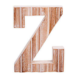 """Bee & Willow™ Home Monogram 6-Inch x 8-Inch Wood Letter """"Z"""" Wall Art in White"""
