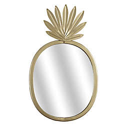 Masterpiece Art Gallery 18-Inch x 11-Inch Pineapple Shaped Metal Accent Mirror in Gold
