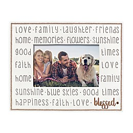 Grasslands Road® Blessed 4-Inch x 6-Inch Picture Frame in Ivory