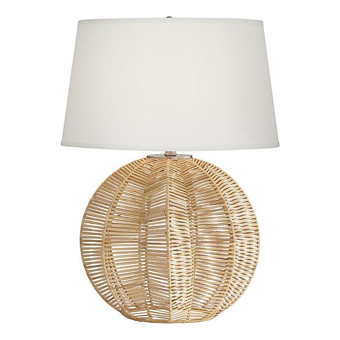 Pacific Coast Lighting Boca Raton Rattan Table Lamp Bed