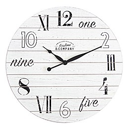 FirsTime & Co.® Shiplap 27-Inch Wall Clock in White
