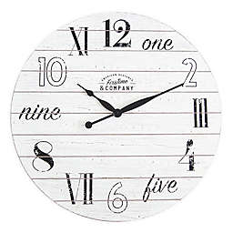 FirsTime & Co.® Shiplap Wall Clock in White