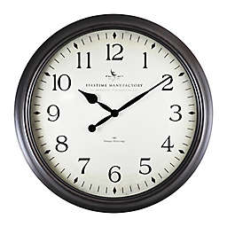 FirsTime® Avery Whisper Round Wall Clock in Oil Rubbed Bronze