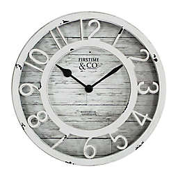 FirsTime® Antique Round Wall Clock in Cream