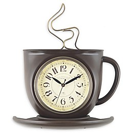 Sterling & Noble® Coffee Mug 11.5-Inch Wall Clock in Bronze