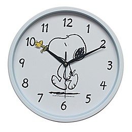 Peanuts™ Snoopy Wall Clock in White