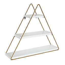 Kate and Laurel™ Tilde Wall Shelf in White/Gold