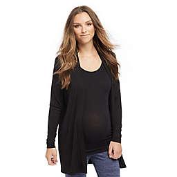 Motherhood Maternity® Drape Maternity Cardigan in Black