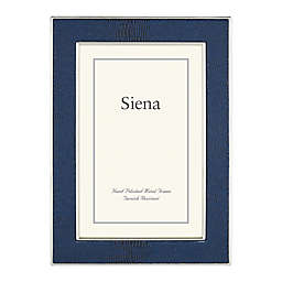 Siena 5-Inch x 7-Inch Faux Lizard Picture Frame in Silver