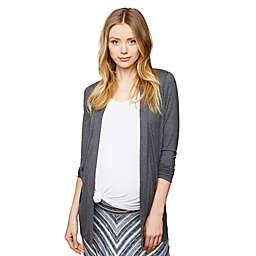 Motherhood Maternity® Drape Maternity Cardigan in Charcoal