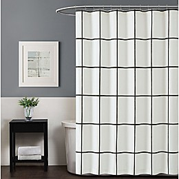 Truly Soft Kurt Windowpane 72-Inch x 72-Inch Shower Curtain