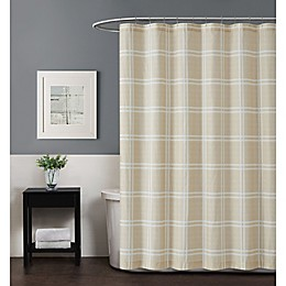 Truly Soft Maddow Leon Plaid Standard Shower Curtain