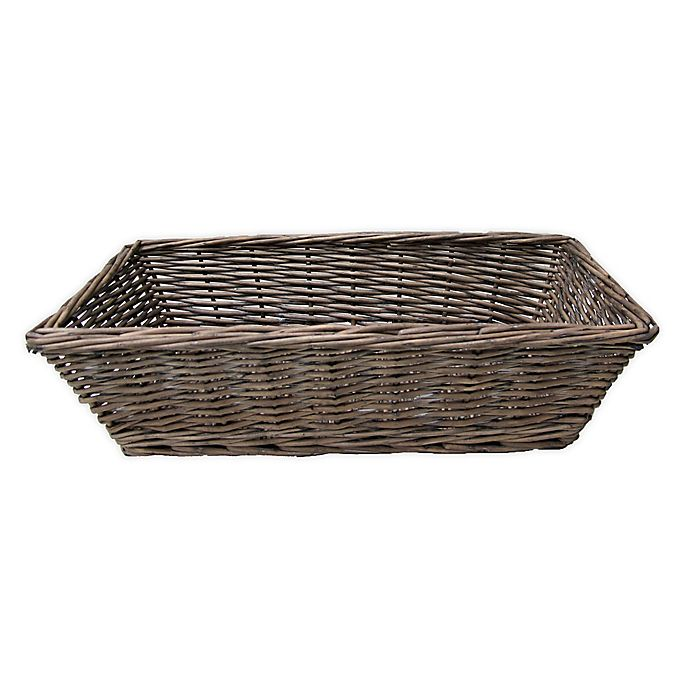 Alternate image 1 for Bee & Willow™ Home Wicker Bread Basket in Grey