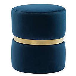 TOV Furniture Yamma Velvet Upholstered Ottoman