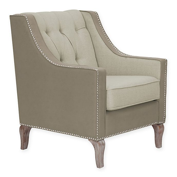 Surprising Chic Homec Riley Upholstered Accent Chair Bed Bath Beyond Theyellowbook Wood Chair Design Ideas Theyellowbookinfo
