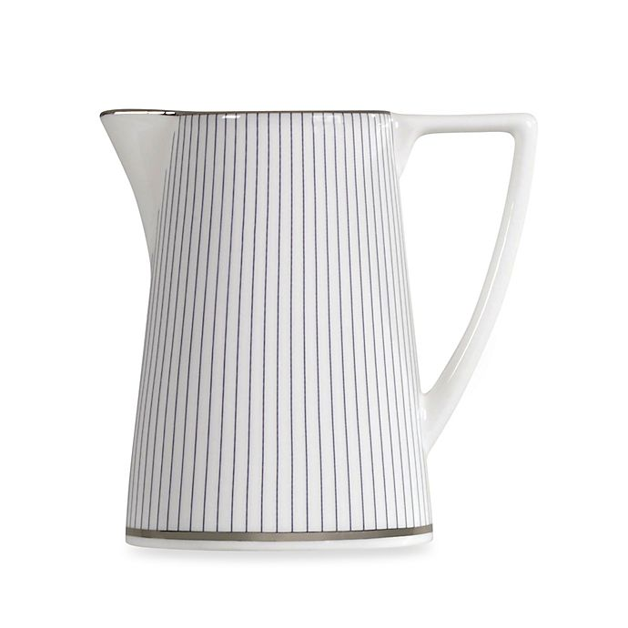 Wedgwood Jasper Conran Creamer In Blue Stripe Bed Bath