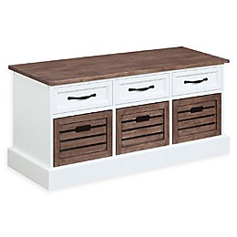 Norwood Storage Bench in Weathered Brown