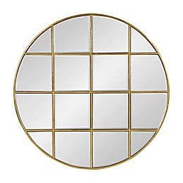 Kate and Laurel Denault 30-Inch Round Mirror in Gold